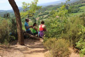Wandern Provence-Picknick mit Ausblick