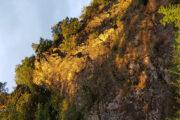 Sonnenuntergang am Fels