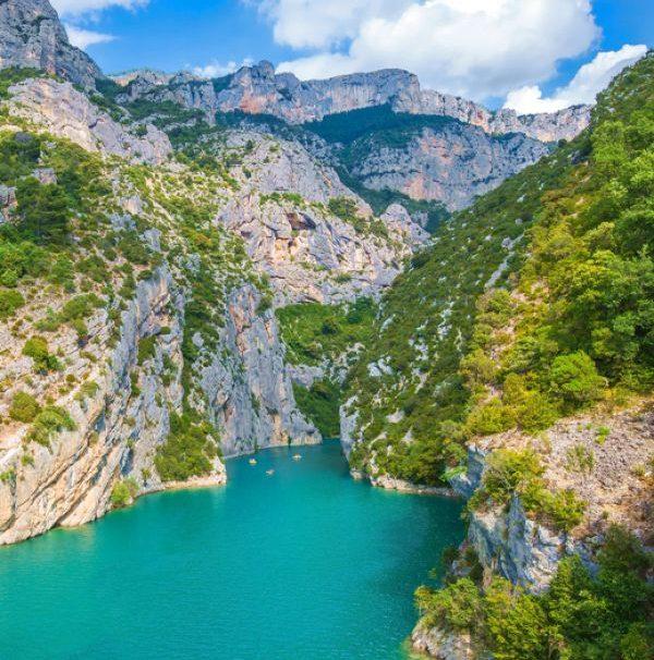 Provence-Blick in die Verdonschlucht
