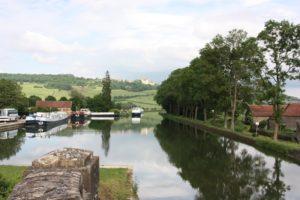 Burgund-Fluss-Landschaft