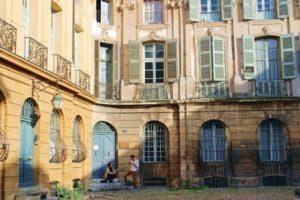 Wandern Provence-Fassade in Aix