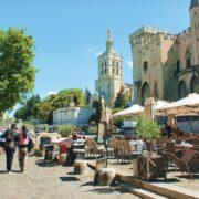 Wandern Provence-Avignon-Papstpalast