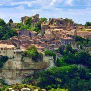 Wandern Provence-Blick auf Le Baux