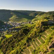Weinwanderungen-Blick auf das Tal