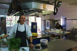kulinarische reise-Blick in die Küche