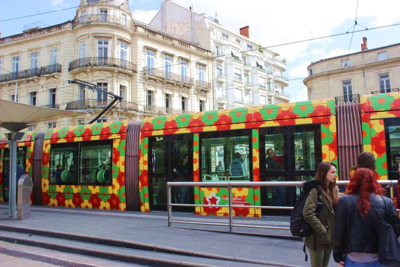 Kunstreise Okzitanien-Montpellier-Kunst im Verkehr