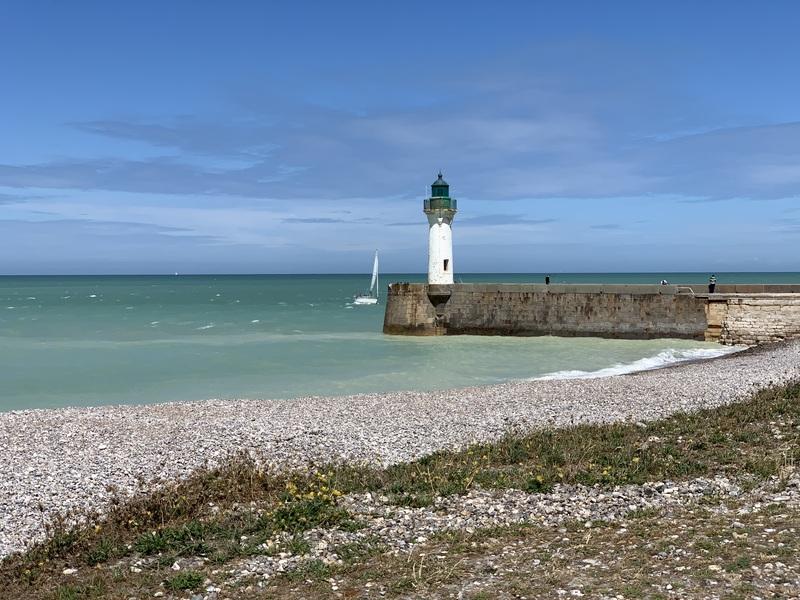 Normandie Rundreise, Leuchtturm in Le Tréport
