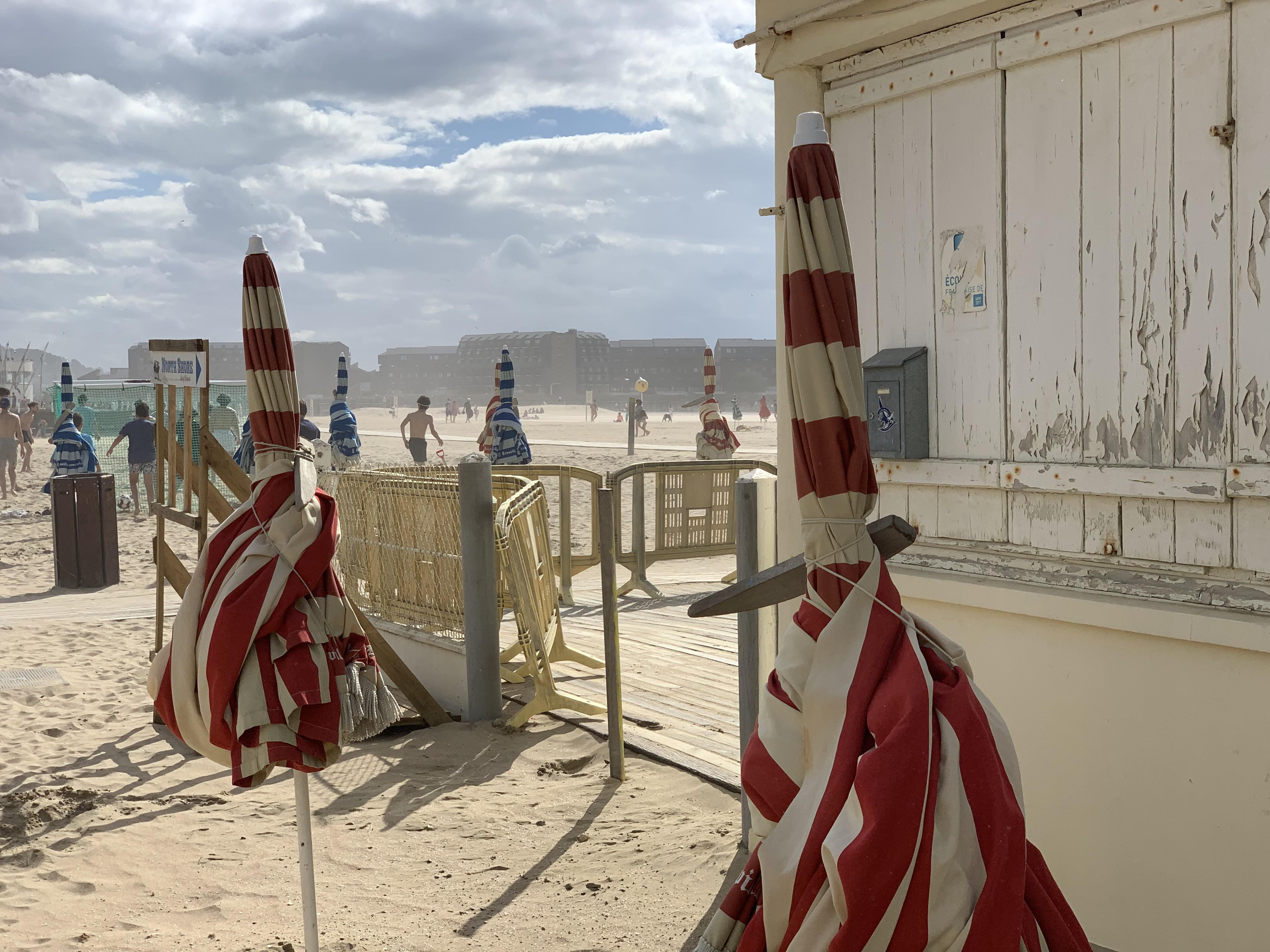 Normandie Rundreise, Strand von Trouville