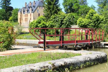 Burgund Urlaub-Schleuse am Kanal du Nivernais