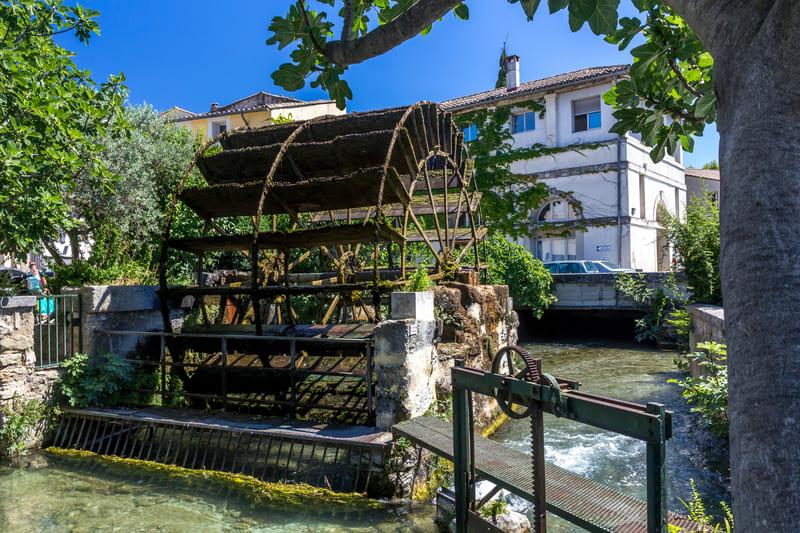 Provence Rundreise-Mühlrad in Isle-sur -la-Sorgue